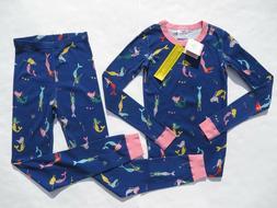 Hanna Andersson 120 6-7 Girls Pajamas Long John Organic Cott