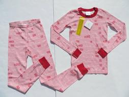 Hanna Andersson 140 10 Girls Pajamas Long John Organic Cotto