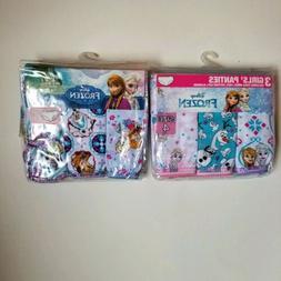2 Disney Frozen 3 Toddler Girls Panties Size 2T 3T Brand New