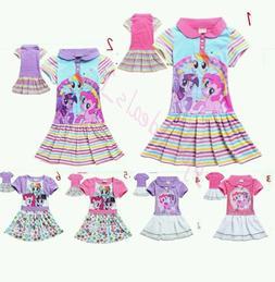 2016 Children Girl Kids Toddler My Little Pony Princess Dres