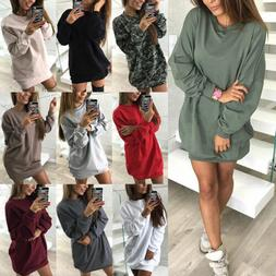 2018 Women Girls Casual Sweatshirt Long Sleeve Sweater Jumpe
