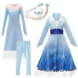 2020 Snow Queen Costume Dress Party Fancy Dresses Coat with