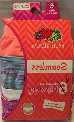 Fruit of the Loom 4-Pack Flexible Fit Hipsters Panties Tag F
