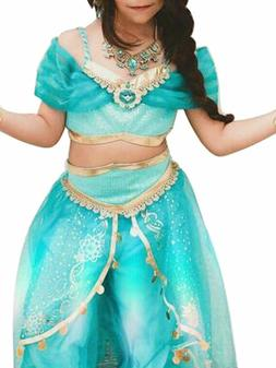 Aladdin Jasmine Princess Cosplay Baby Kid Girl Fancy Dress U
