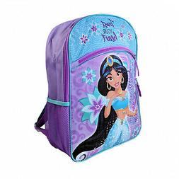 "Disney Aladdin ""Princess Jasmine"" Girls Backpack - 16"" Purpl"