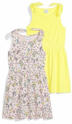 Amazon Brand - Spotted Zebra Girls' Toddler  Kid 2-Pack Knit