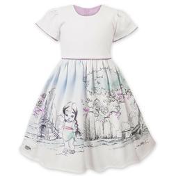 Disney Store Animators Mulan Princess White Fancy Party Dres