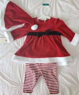 Baby Girl Christmas Dress Outfit Size 0-3 Months-Red Velvet