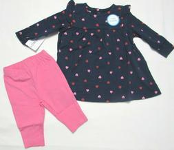 Baby girl clothes, Newborn, Carter's dress legging set  NEW