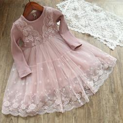 baby girl dress lace princess birthday party