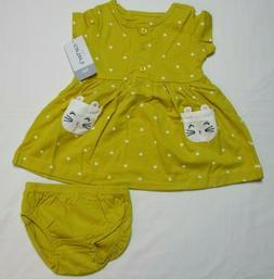 Baby Girls Carter's heart kitty-pocket dress size NEWBORN  N