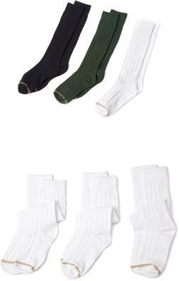 Gold Toe Big Girls' Knee-High Socks, Assorted Colors, 3 Pair