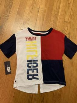 Tommy Hilfiger Big Girls T Shirt,colorblock Red Navy White S