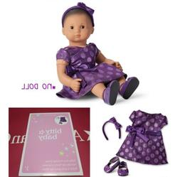"American Girl Bitty Baby Polka Dot Holiday Dress for 15"" Dol"
