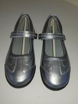 Stride Rite Blair Pewter silver Mary Jane Claire school unif
