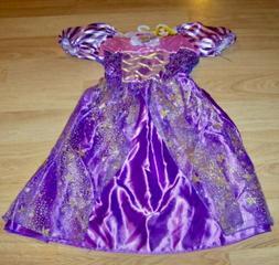 Brand New Girls Disney Pretty Princess Rapunzel Costume Dres