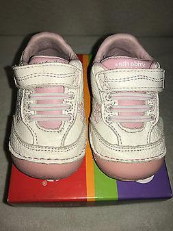 Brand New Stride Rite SM Bambi White / Pink Girls Sneakers U