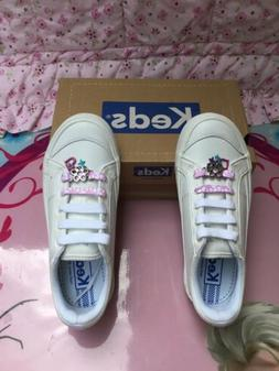 ~Brand New~ White Leather KEDS Sneakes for Girls ~Size 1~
