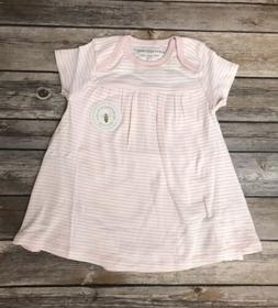 Burt's Bees Baby Girl 100% Organic Cotton Stripe Dress Pink