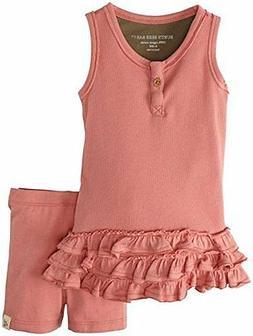 Burt's Bees Baby Girl Tank Dress & Shorts Set ~  Chrysanthem