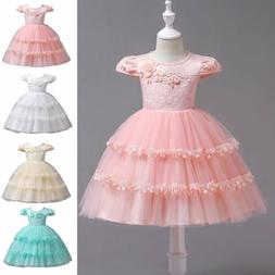 Cake Dress for Kid Girl Birthday Princess Wedding Ball Gown