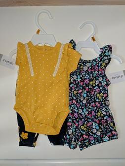 Carter's Newborn nb baby girl clothes 2 set. 2pc set and d