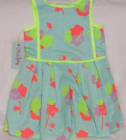 Cat & Jack Toddler Girl Sleeveless Dress Aqua Float Size 2T