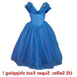 Cinderella Princess Butterfly Party Dress kids Costume Dress