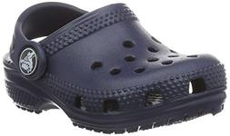 crocs Kids' Classic K Clog, Navy, 6 M US Toddler