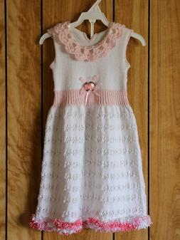 Cute dress for girl 1-2 years Hand knitted One in the world!