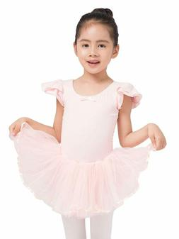 Dancina Girls Skirted Leotard Tutu Ballet Dance Dress Cotton