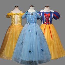 Disney Princess Costume Kids Girls Halloween Cosplay Party F