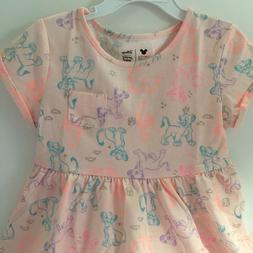 Disney Toddler Girl Dress 3T Lion King Pink Skater Short Sle
