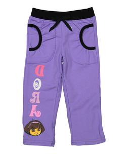 Dora Pants Sweatpants Sweats Toddler Girls Pull up Elastic W