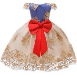 Elegant Princess Girl Dress Baby Kids Clothes Tutu Birthday