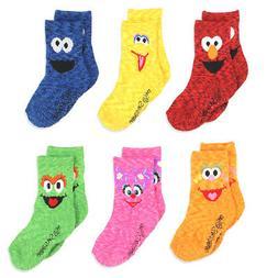 Sesame Street Elmo Boys Girls Multi Pack Crew Socks with Gri