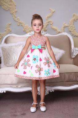 embroidered flower party dress toddler and girls