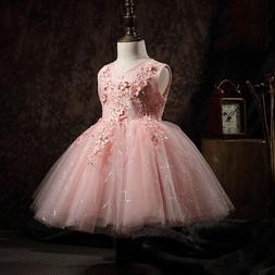 Floral Princess  for Little Girls Party Gowns Big Bowknot  F