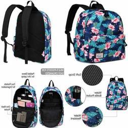 Flower Backpack For Women Water Resistant High School Girls