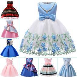 Flower Girl Princess Dress Baby Kid Party Wedding Bridesmaid