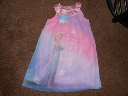 Disney Frozen Girl Elsa Tunic Dressy Flowey Sleeveless Dress