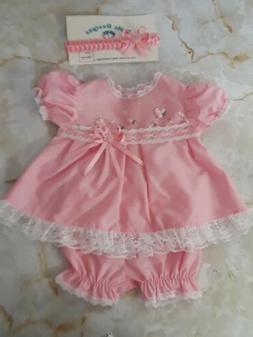 Girl clothes newborn,handmade vintage style,pink reborn doll