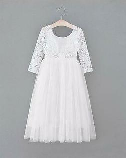 2Bunnies Girl Peony Lace Back A-Line Straight Tutu Tulle Par