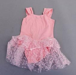 Arshiner Girl Ruffle Sleeve Heart Tutu Ballet Leotard Dress