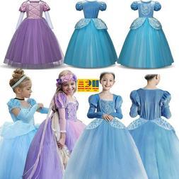 Girl's Kid Princess Costume Fairytale Dress Up Cinderella Ra