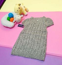 Girl's Toddler Cherokee Dress Sweater Knit Ribbed Short Slee