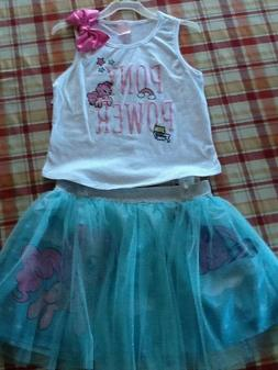 My little pony girls 2 piece dress size 10/12 perfect for Ea