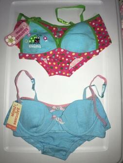 Little Princess Girls 2 Sets Of 2 Pc Panty And Bra Size 30A/