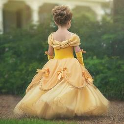 Girls Beauty and the Beast Belle Princess Dress Costume for
