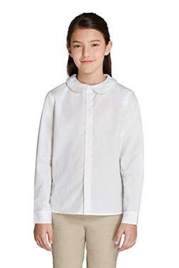 French Toast Girls' Big Long Sleeve Modern Peter Pan Collar